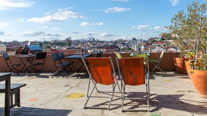 Yoga at This Is Lisbon Hostel Rooftop
